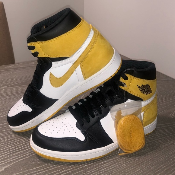 Jordan 1 Retro High Yellow Ochre- Men size 8